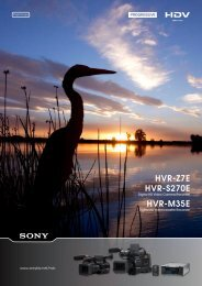 Sony HVR-S270E Camcorder User Guide Manual Operating ...