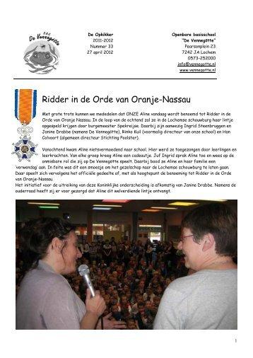Ridder in de Orde van Oranje-Nassau