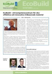 EcoBuild nyhetsbrev 2011-1.pdf - EcoBuild Institute Excellence Centre