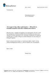 Återrapportering - Riksarkivets framtida samarbete med enskilda ...