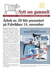 Nytt om gammelt - oktober 2010 - Fåberg og Lillehammer Historielag