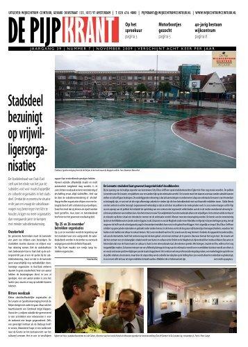 Stadsdeel bezuinigt op vrijwil- ligersorga- - Wijkcentrum Ceintuur