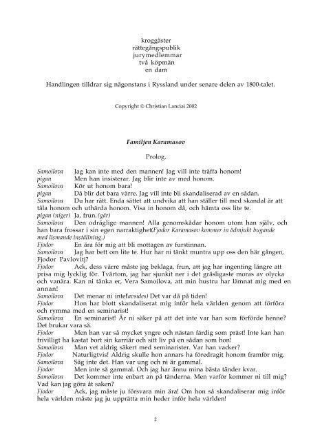 159. Familjen Karamasov - fritenkaren.se