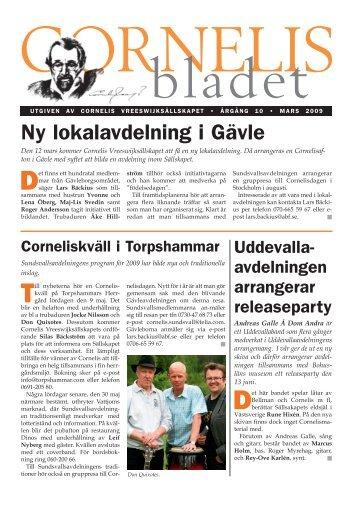 Cornelisbladet nr 1, 2009 - Cornelis Vreeswijk