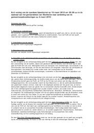Verslag 1e openbare bijeenkomst d.d. 15 maart 2010 n.a.v. ...