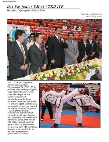 2006 - Junior VM i Honduras