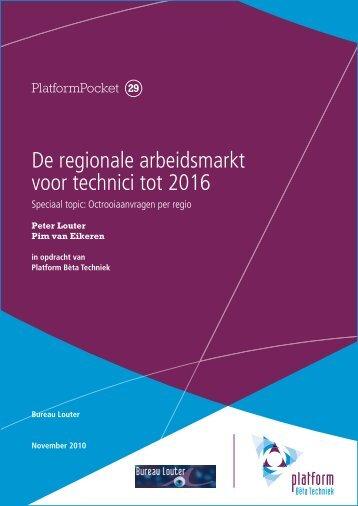 De regionale arbeidsmarkt voor technici tot 2016 - Kennisbank ...