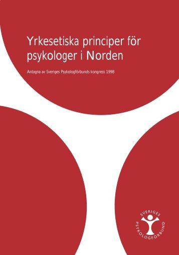 Yrkesetiska principer för psykologer i Norden - Pearson Assessment