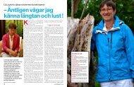 Äntligen vågar jag känna längtan och lust! - nr.8 2011 - Hans Karlsson