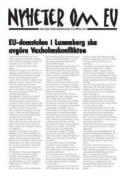 Nyhetsbrevet i pdf - Folkrörelsen Nej till EU