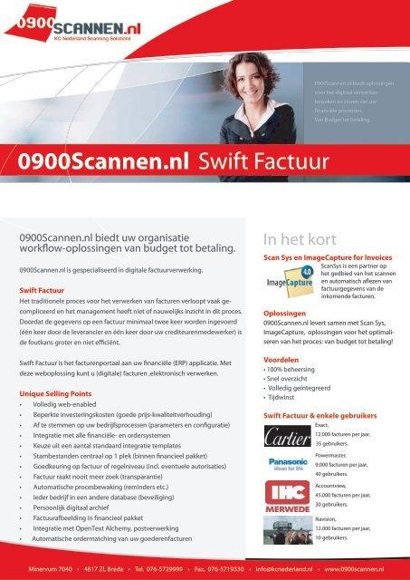 swift factuur Brochure Swift Factuur Scan Sys.indd   0900 Scannen