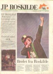 med være 'stor chance` `r at pu - Roskilde Festival