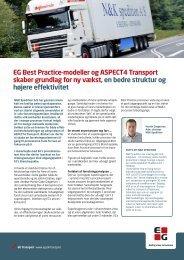 EG Best Practice-modeller og ASPECT4 Transport skaber ... - EG A/S