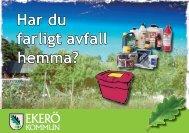 Broschyr om farligt avfall - Ekerö kommun