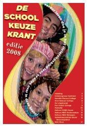 Schoolkeuzekrant 2008