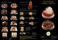 cake menu - Zest Patisserie