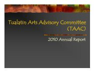 Tualatin Arts Advisory Committee (TAAC) - City of Tualatin