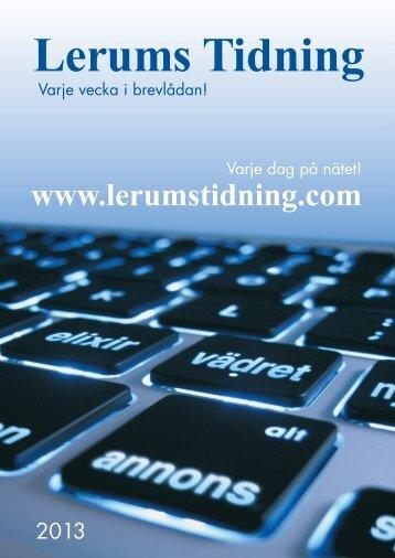 Säljbroschyr 2013.indd - Lerums Tidning