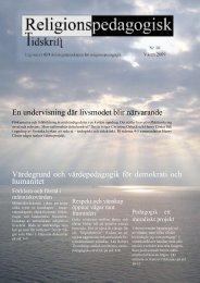 Nr 18 våren 2009 - Religionspedagogiskt idéforum