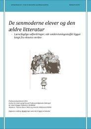 De senmoderne elever og den ældre litteratur - Folkeskolen