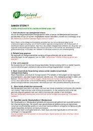Voorlopige conclusies interne analyse en ... - Meetjesland.be