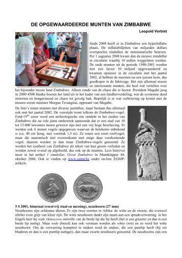 De munten van Zimbabwe - Numismatica Herentals