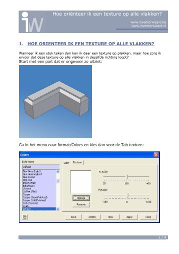 2.1 Hoe oriënteer je een texture op alle vlakken - Autodesk Inventor ...
