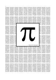 Pi med mange decimaler - Vestergaards Matematik Sider