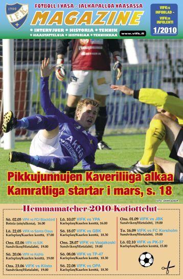 Pikkujunnujen Kaveriliiga alkaa Kamratliga startar i mars, s. 18 - Vifk