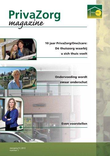 PrivaZorg Magazine, jaargang 9 - 2013 - nummer 1