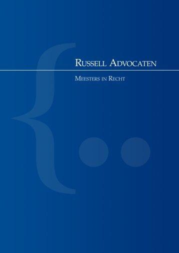 Download brochure - Russell Advocaten