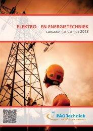 elektro- en energietechniek - Stichting PostAcademisch Onderwijs