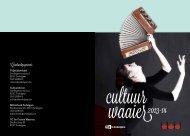 Cultuurseizoen 2013-2014: brochure - Gemeente Zedelgem
