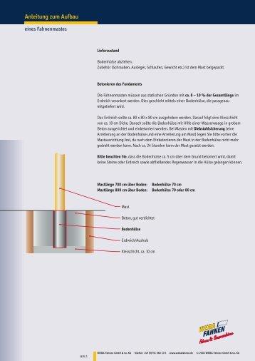 Anleitung zum Aufbau - WEBA Fahnen