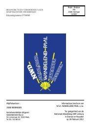 Informatieve brochure van WSV WANDELEND PAAL vzw Ter gelegen