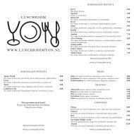 Klik hier om onze menukaart te bekijken. - Lunchroom Yon