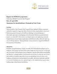 last ned rapporten - MERKUR - programmet