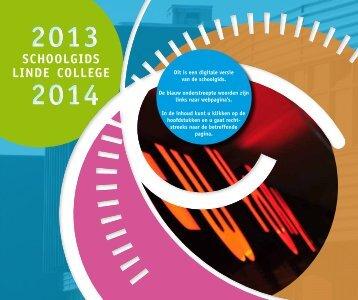 Schoolgids 2013/2014 - Linde College