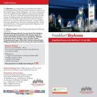 Frankfurt SkyArena - Tourismus und Congress GmbH - Frankfurt am ...