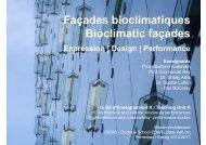 Façades bioclimatiques Bioclimatic façades - lipid - EPFL