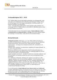 Verksamhetsplan för 2013-2014 - Kommunförbundet Skåne