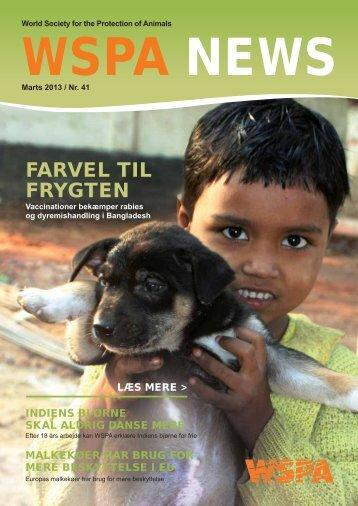 FARVEL TIL FRYGTEN - WSPA Danmark