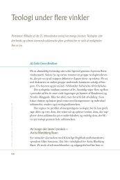 Teologi under flere vinkler - Aarhus Universitet