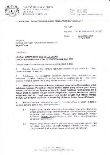Surat arahan - Portal Rasmi Jabatan Pelajaran Perak