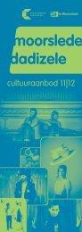cultuurbrochure 2011-2012 - Gemeente Moorslede