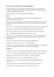 Övningar med musik (pdf)