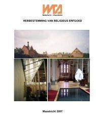 HERBESTEMMING VAN RELIGIEUS ERFGOED Maastricht ... - WTA