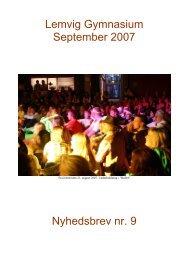 Nyhedsbrev nr. 9 (september 2007) - Lemvig Gymnasium