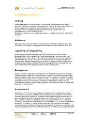 Bolagsstyrningsrapport 2010 - Rabbalshede Kraft