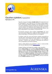 Gauchers sjukdom - Ågrenska